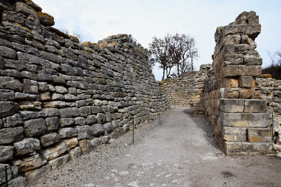 Troya antik kenti şehir duvarları - City walls, Troy ancient city photos