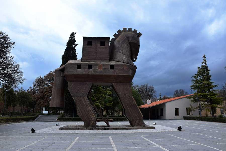 Troya antik kenti, Truva atı - Trojan horse, Troy ancient city photos