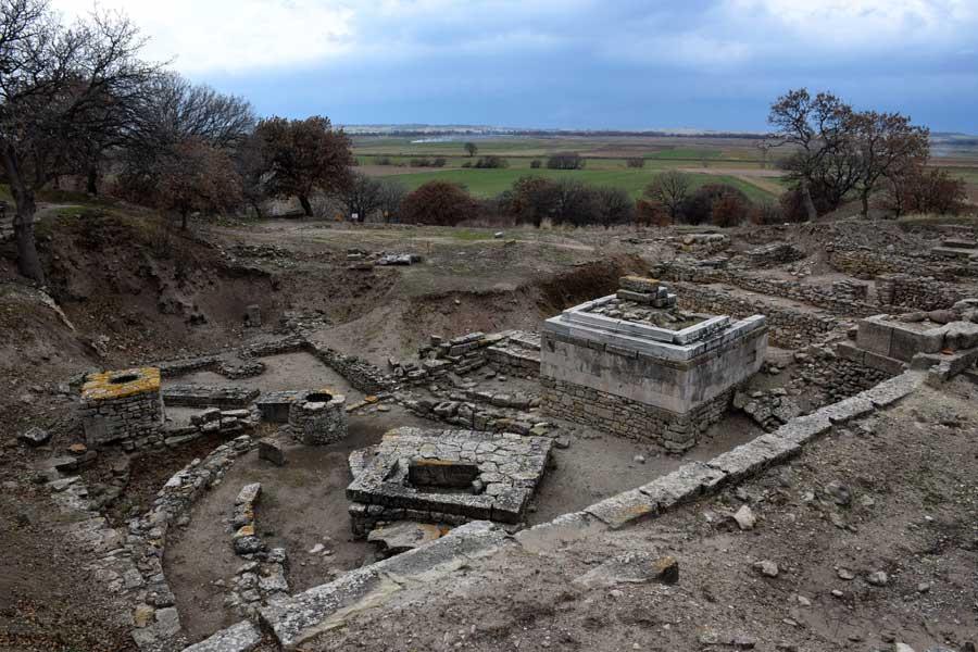 Troya antik kenti fotoğrafları kutsal tören alanı - Troy ancient city photos sacred ritual ground
