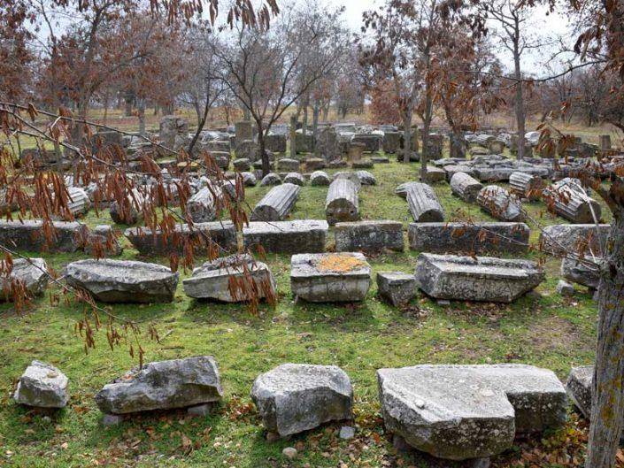 Troya antik kenti fotoğrafları sütun kalıntıları - Troy ancient city photos ruins of columns