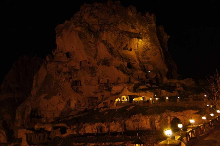 Uçhisar Kalesi Göreme Ürgüp Nevşehir Kapadokya fotoğrafları - Uçhisar Castle Central Anatolia Cappadocia photos