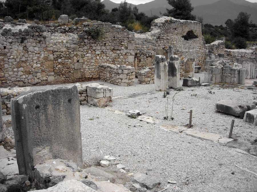 Xanthos antik kenti fotoğrafları Thermes kalıntıları - Thermes Ruins Xanthos photos