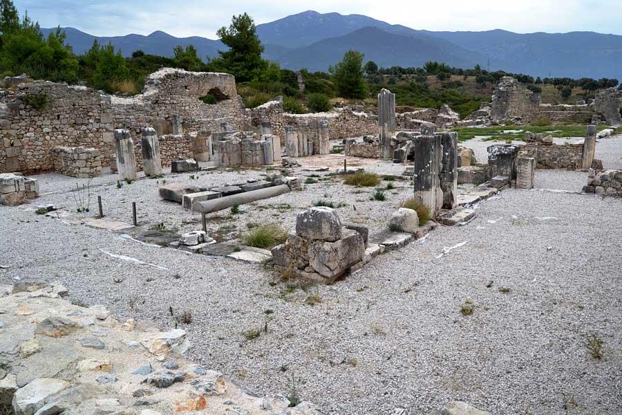 Xanthos antik kenti fotoğrafları Thermes kalıntıları - Xanthos ancient city photos Thermes Ruins