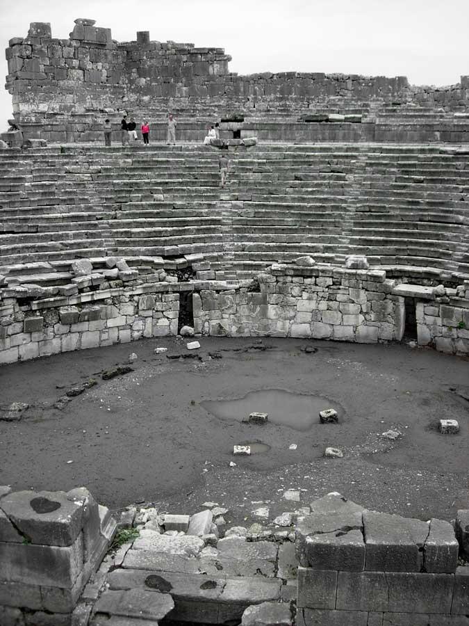 Xanthos antik kenti fotoğrafları antik tiyatro - Ancient theatre Xanthos photos