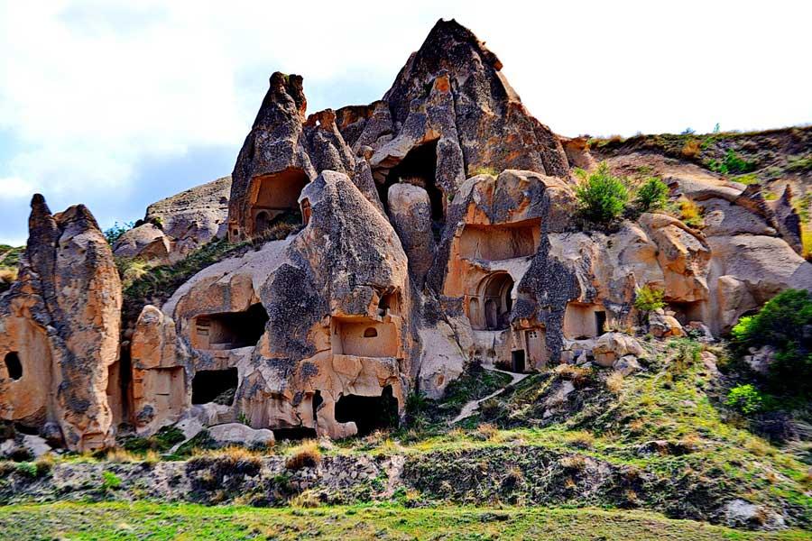 Zelve açık hava müzesi kesitler Göreme Ürgüp Kapadokya fotoğrafları - Zelve openair museum, sections, Cappadocia photos