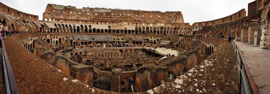 Antik Roma Kolezyum panoramik fotoğrafları - Ancient Colosseum panoramic photos