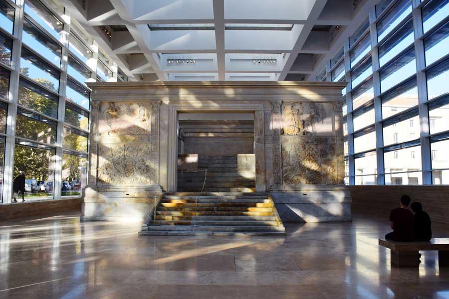 Ara Pacis Müzesi ve Ara Pacis (Görkemli Barış Sunağı) - Rome Ara Pacis Museum photos Ara Pacis gate,