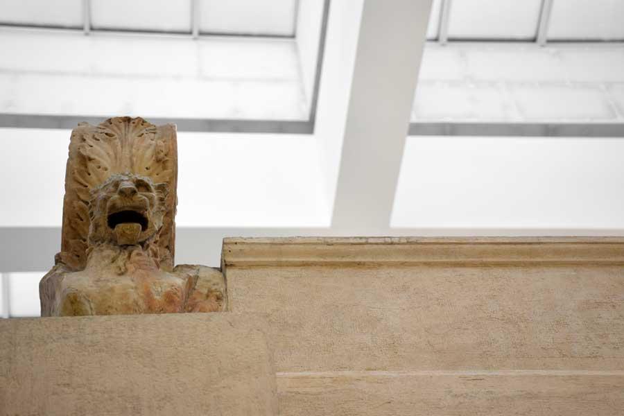 Ara Pacis fotoğrafları aslan rölyefi - Rome Ara Pacis Museum photos lion relief