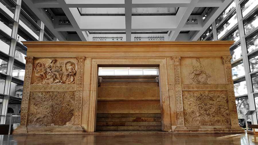 Ara Pacis müzesi fotoğrafları ve Ara Pacis (Görkemli Barış Sunağı - Rome Altar of Augustan and Ara Pacis museum photos
