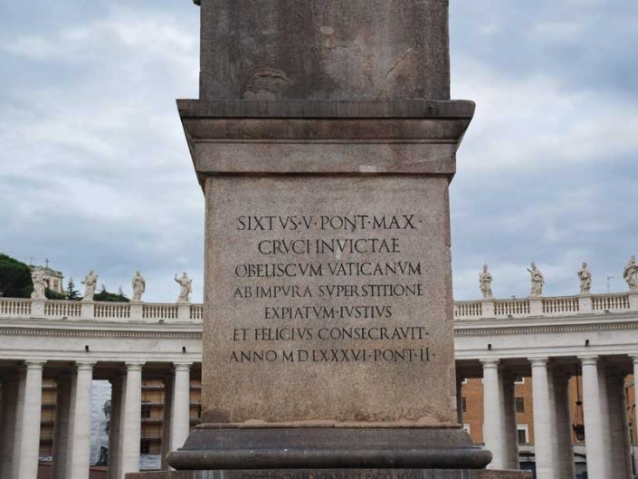Aziz Petrus Bazilikası ve meydanı veya San Pietro Bazilikası ve meydanı dikilitaşı - Roma Vatican St. Peter's square and obelisk (Piazza San Pietro)