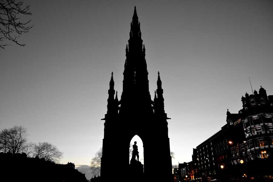 Edinburgh fotoğrafları Scott anıtı - Edinburgh photos Scott Monument