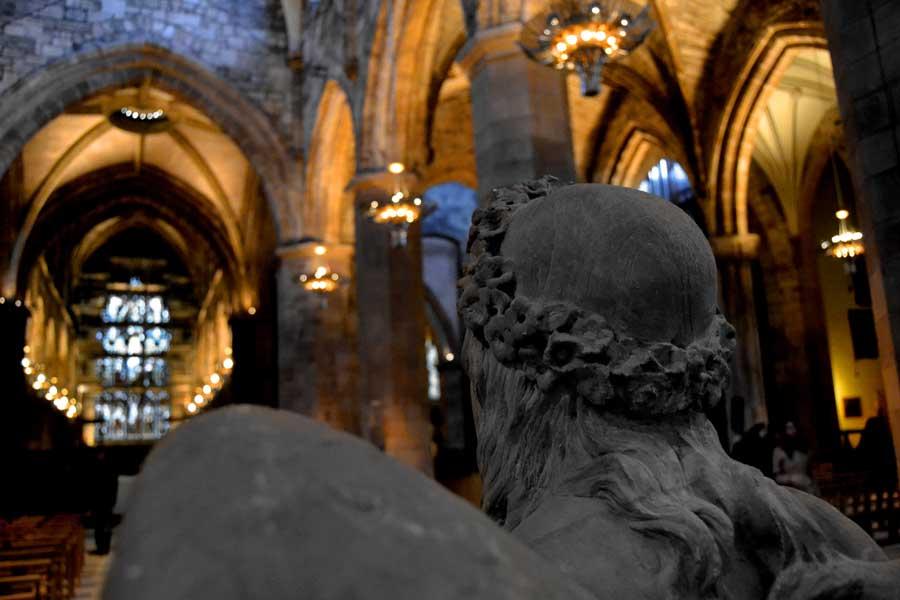 Edinburgh gezilecek yerler St. Giles kilisesi - Edinburgh photos St Giles church