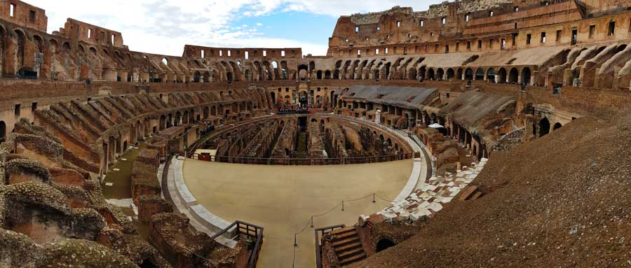 Kolezyum panoramik arena fotoğrafları - Colosseo or Colosseum panoramic photos