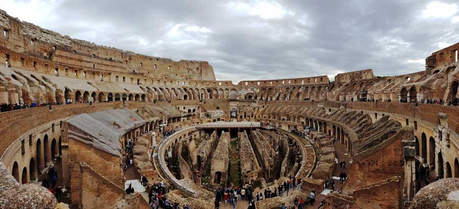 Kolezyum panoramik fotoğrafları - Colosseum panoramic photos