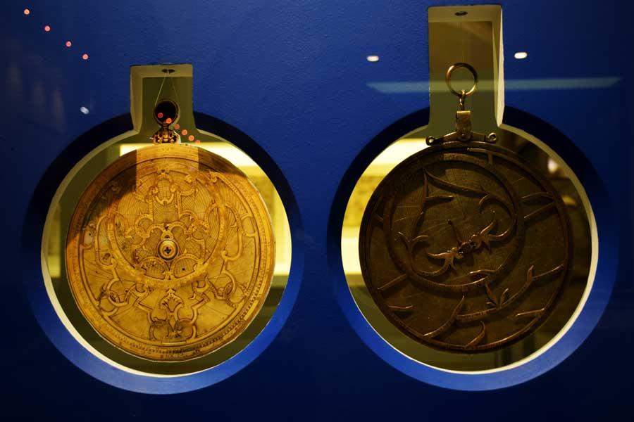 Lizbon Belem gezilecek yerler Portekiz Deniz Müzesi Usturlap - Planispheric Astrolabe (astrolábio planisférico) Portugal Navy Museum ( Museu de Marinha)