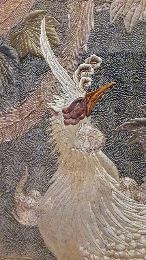 Lizbon Gülbenkyan Müzesi fotoğrafları Japon ipek işlemesi 19.yy. - Lisbon Calouste Gulbenkian Museum (Museu Calouste Gulbenkian) Japanese Silk Thread