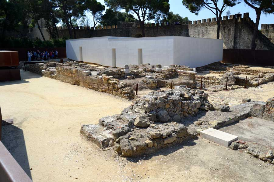 Lizbon Sao Jorge Kalesi Arkeolojik alan - Lisbon Sao Jorge Castle Archeological site (Jardim do Castelo de Sao Jorge)