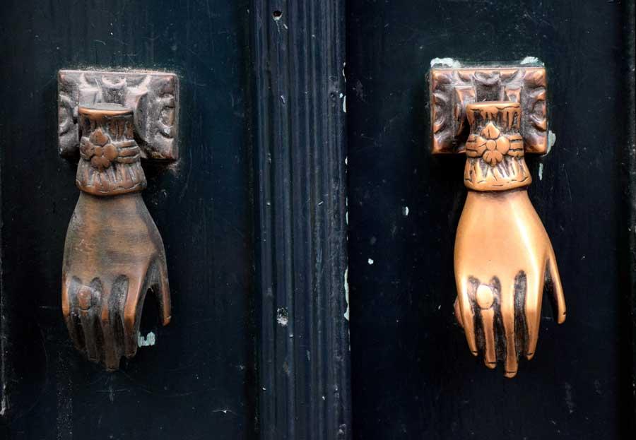 Lizbon fotoğrafları tarihi kapı tokmağı - Portugal Lisbon photos historical door knocker