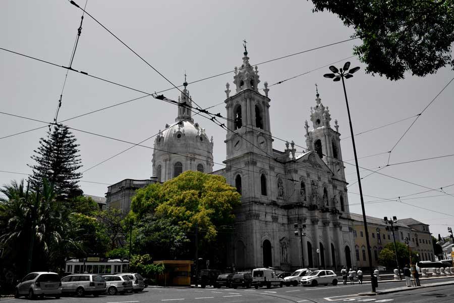 Lizbon gezilecek yerler Estrela Bazilikası - Lisbon Estrela Basilica (Basilica da Estrela)