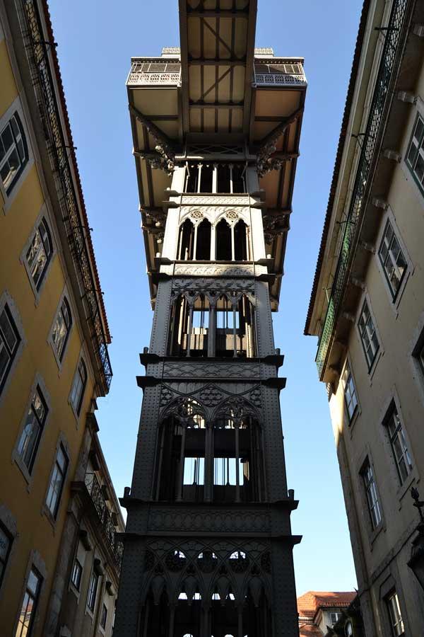Lizbon tarihi Santa Justa asansörü - Lisbon Santa Justa lift (Elevador de Santa Justa)