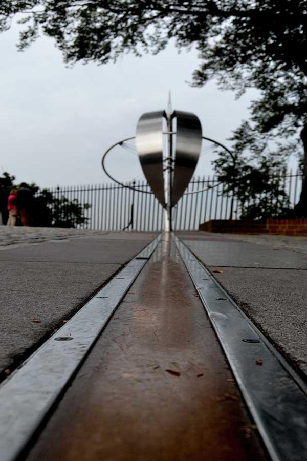 Londra Greenwich başlangıç meridyeni veya sıfır meridyeni - London Greenwich prime meridian