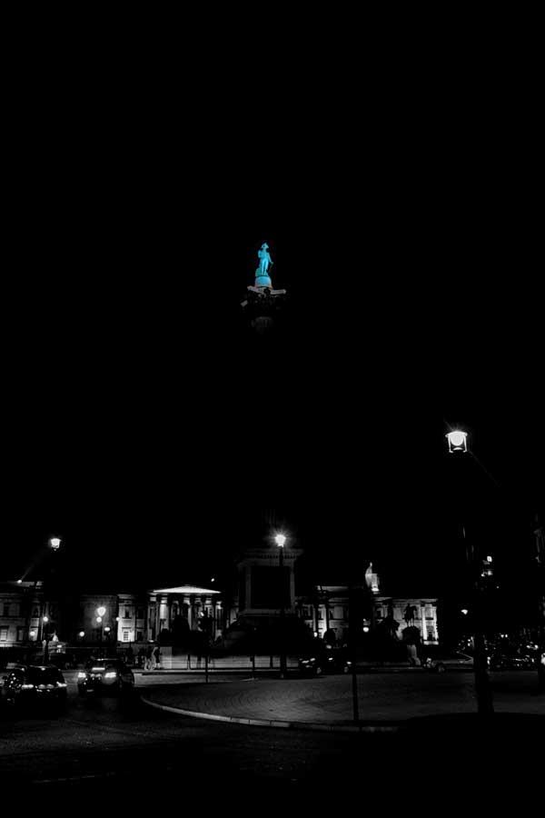 Londra Trafalgar meydanında bulunan Nelson anıtı - London Trafalgar square and nelson memorial