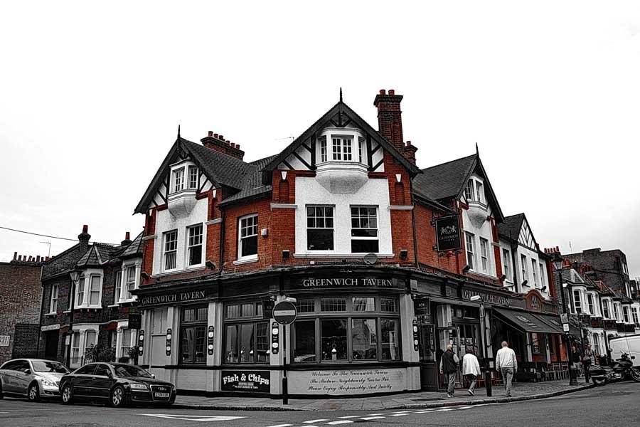 Londra fotoğraflar Greenwich'te bulunan Greenwich pub - Greenwich tavern London photos