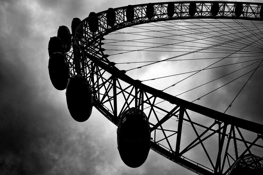 Londra fotoğrafları London eye siyah beyaz - London eye black and white
