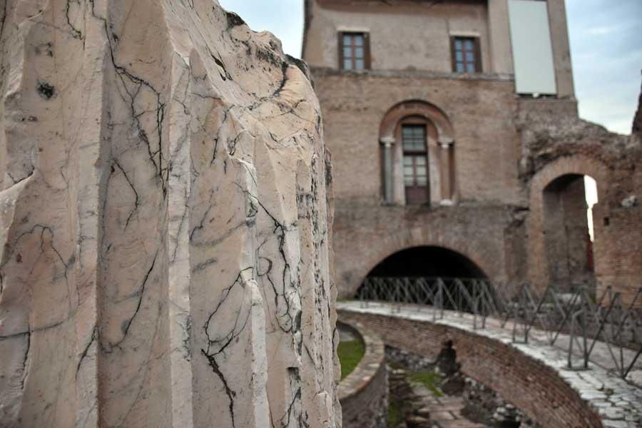 Palatino Tepesi Roma Forumu Domus Flavia kalıntıları - Rome Ruins of Domus Flavia on the Palatine Hill Roman Forum