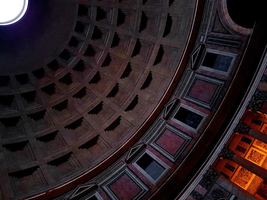 Pantheon fotoğrafları kubbe - Rome Pantheon dome