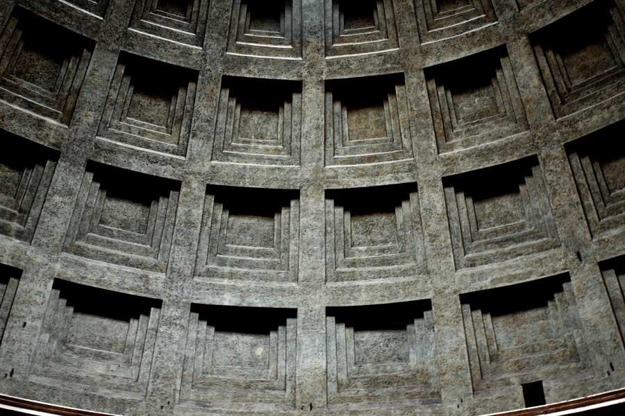 Pantheon fotoğrafları kubbe detayı - Rome Pantheon dome detail