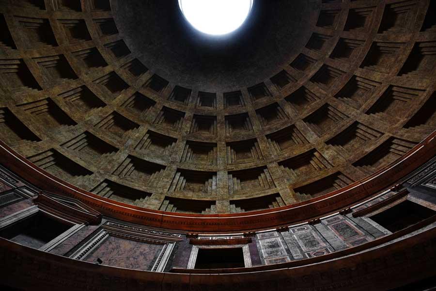 Pantheon fotoğrafları kubbe içi - Rome Pantheon interior dome photos