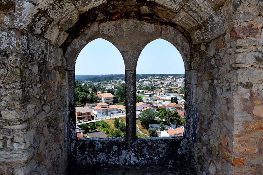Pombal Kalesi fotoğrafları kral penceresi - Portugal Castle of Pombal King's window (Castelo de Pombal)