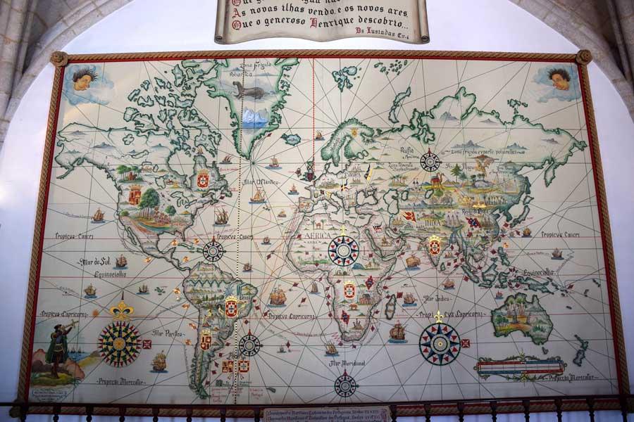 Portekiz Deniz Müzesi Dünya Haritası - Portugal Navy Museum World Map (Museu de Marinha)