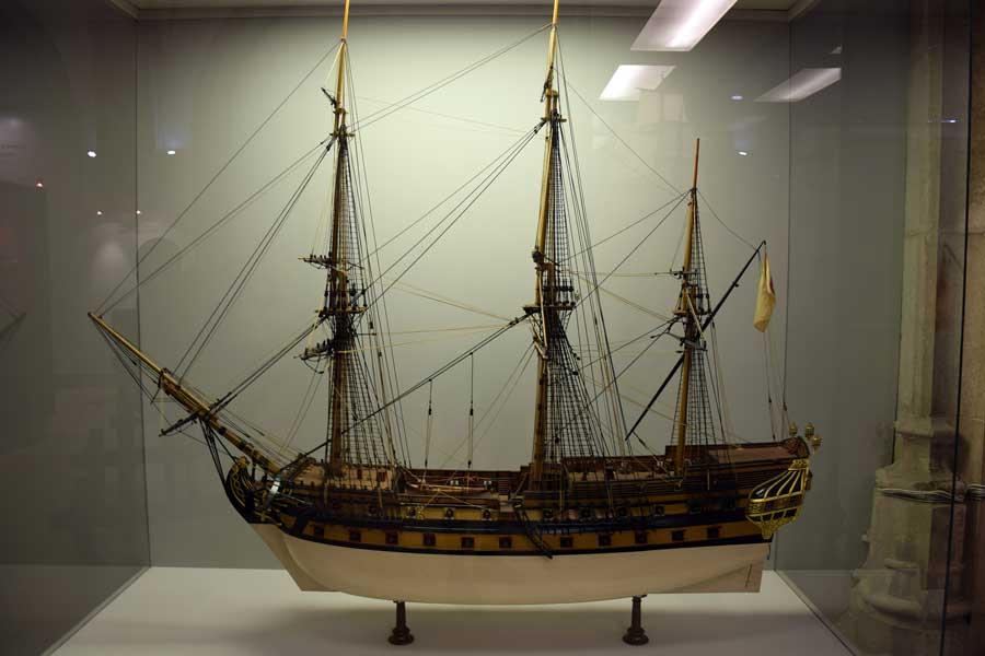 Portekiz Deniz Müzesi Lizbon Principe da Beira gemi maketi - Portugal Navy Museum model of Principe da Beira ( Museu de Marinha)