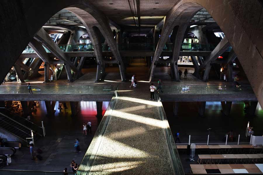 Portekiz Lizbon Oriente Garı mimarı Santiago Calatrava - Lisbon Gare do Oriente