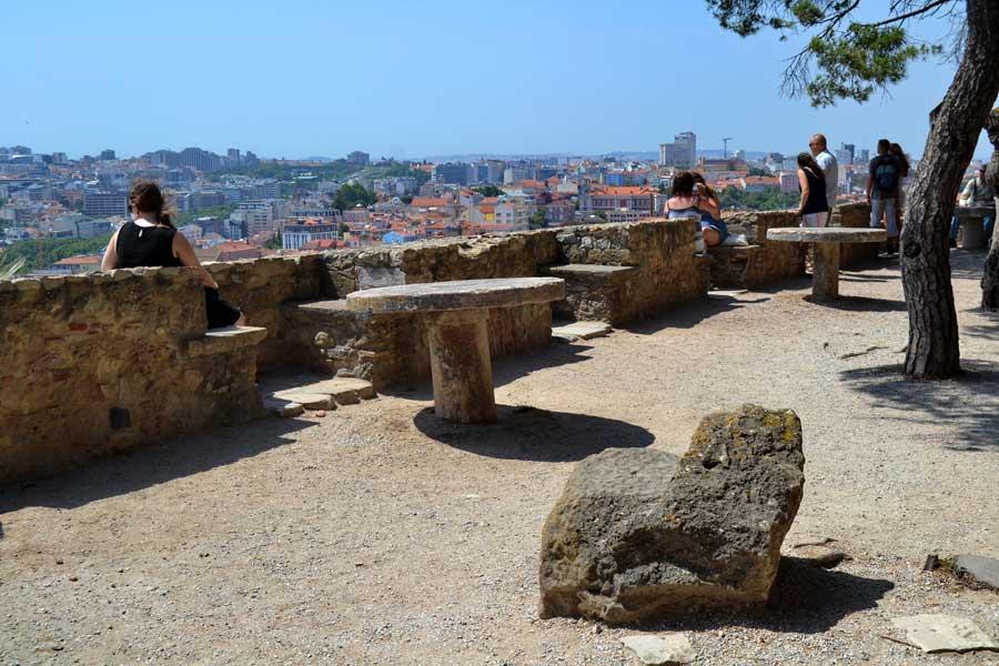 Portekiz güzergahı Lizbon Sâo Jorge Kalesi - Portugal route Lisbon Castle or Sao Jorge castle (Castelo de S. Jorge)