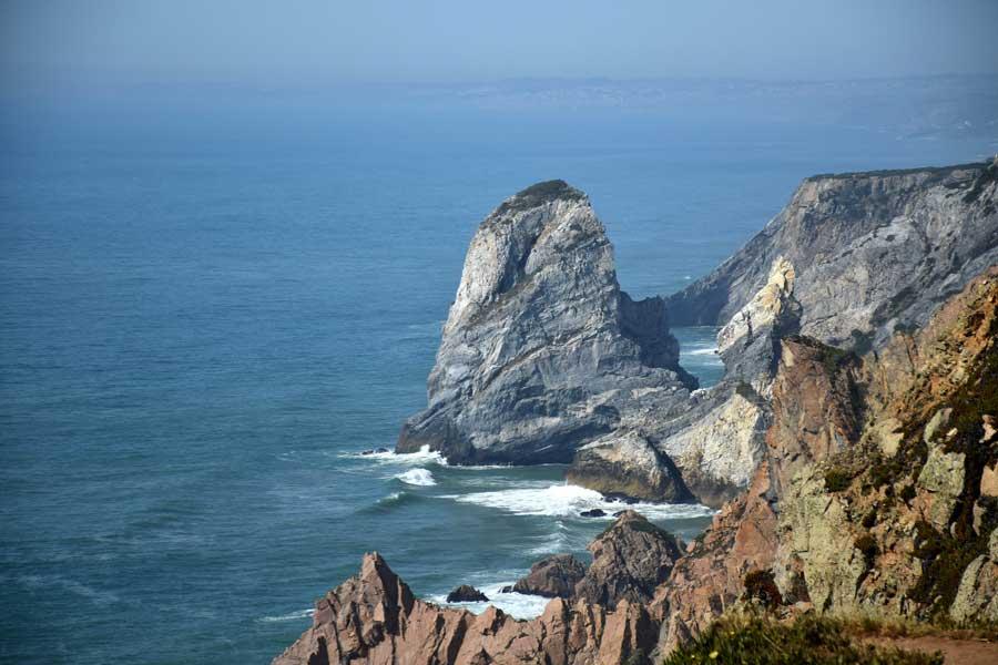 Portekiz gezilecek yerler Avrupa'nın en batısı Roca Burnu - Europe's westernmost Roca Cape Monument (Cabo da Roca)