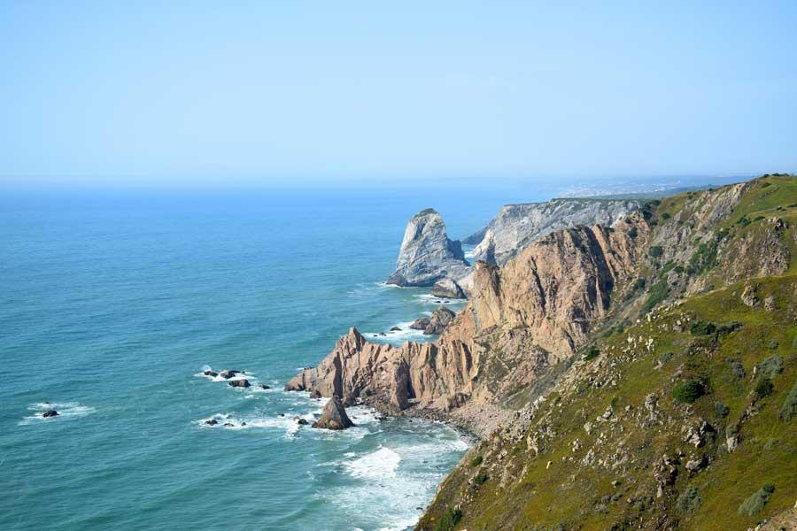 Portekiz Roca Burnu Avrupa'nın en batısı – Cabo da Roca