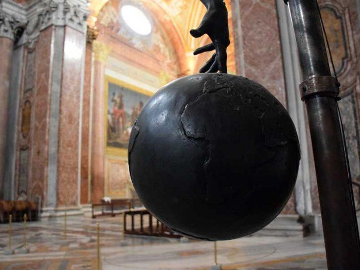 Roma gezilecek yerler ve önemli anıtsal yapılar Aziz Meryem Melekler Bazilikası Galileo'nun sarkacı - Rome Basilica of St. Mary of the Angels (Basilica di Santa Maria degli Angeli) Galileo's pendulum