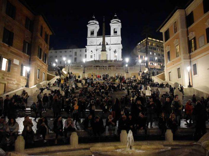 Roma İspanyol merdivenleri - Rome Spanish Stairs piazza di Spagna