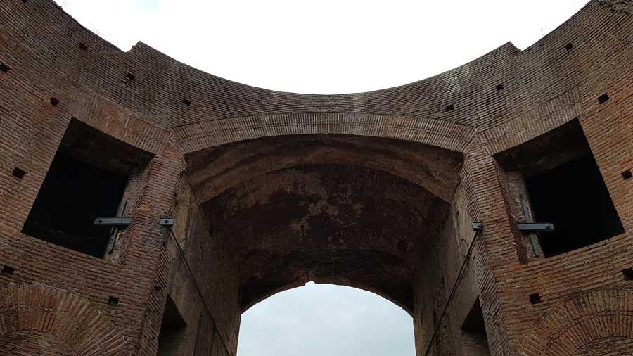 Roma Forumu Palatino tepesi Domus Augustana detayı, Roma Domitian Sarayı - Rome Palatine hill photos Domus Augustana Roma Forum