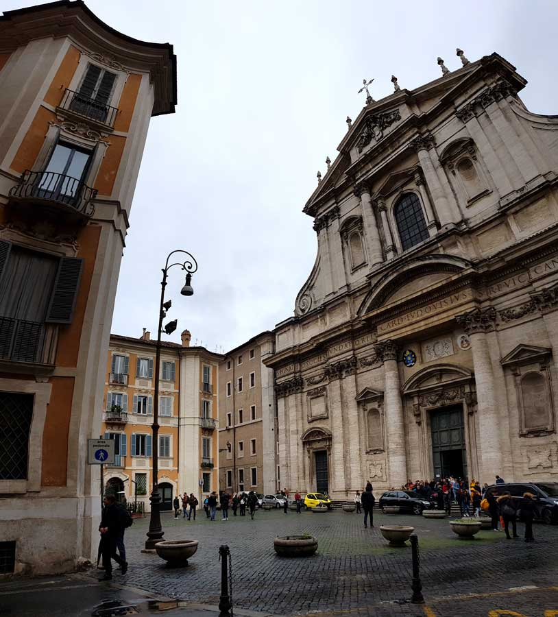 Roma Loyola Kilisesi veya Aziz Ignazio Kilisesi - Rome Church of St. Ignatius of Loyola (Sant'Ignazio di Loyola)