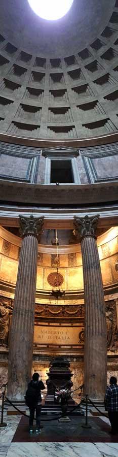 Roma Pantheon dikey panaromik fotoğrafları - Rome Pantheon vertical panaromic photos