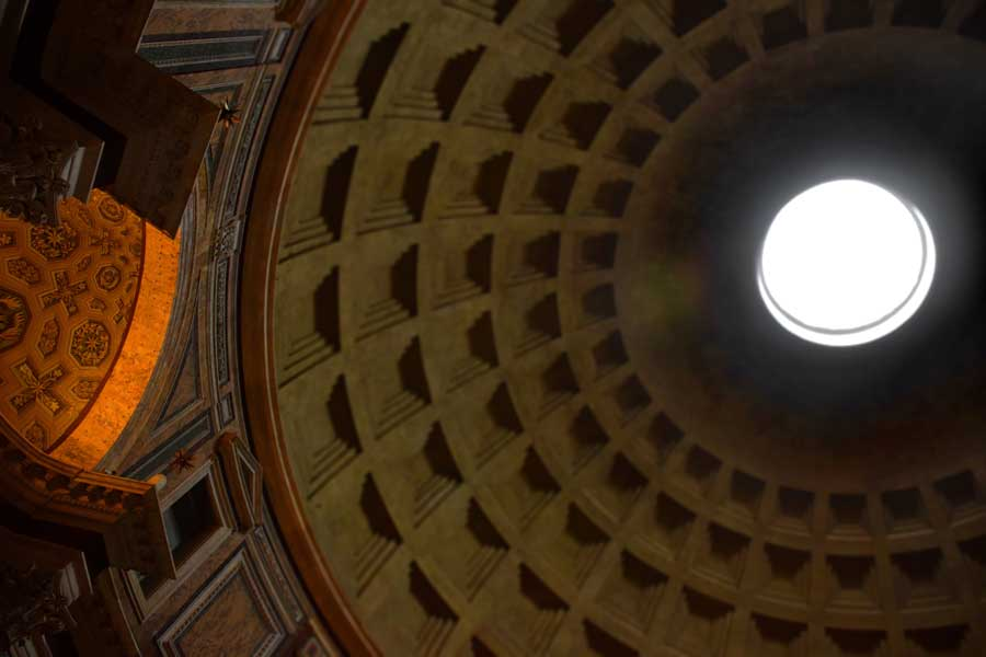 Roma Pantheonu kubbe içi fotoğrafları - Rome Pantheon interior dome photos