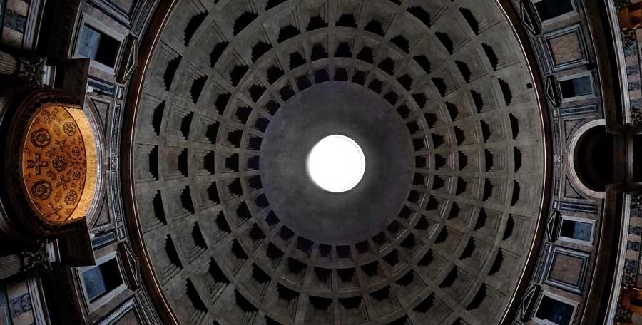 Roma Pantheonu kubbesi panaromik fotoğrafları - Rome Pantheon dome panaromic photos