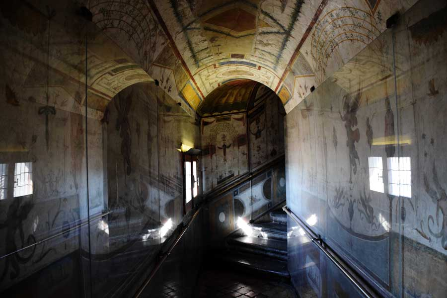 Roma Sant'Angelo Kalesi eserleri Paulina odası duvar resimleri - interior room paintings from Castel Sant Angelo (Pauline Hall)
