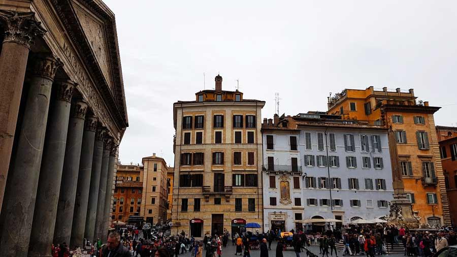 Roma gezilecek önemli yerler Pantheon meydanı - Rome Pantheon Square photos