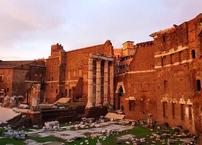 Roma İmparatorluk Forumları Augustus Forumu - Roman Imperial Forums (Via dei Fori Imperiali) Forum of Augustus