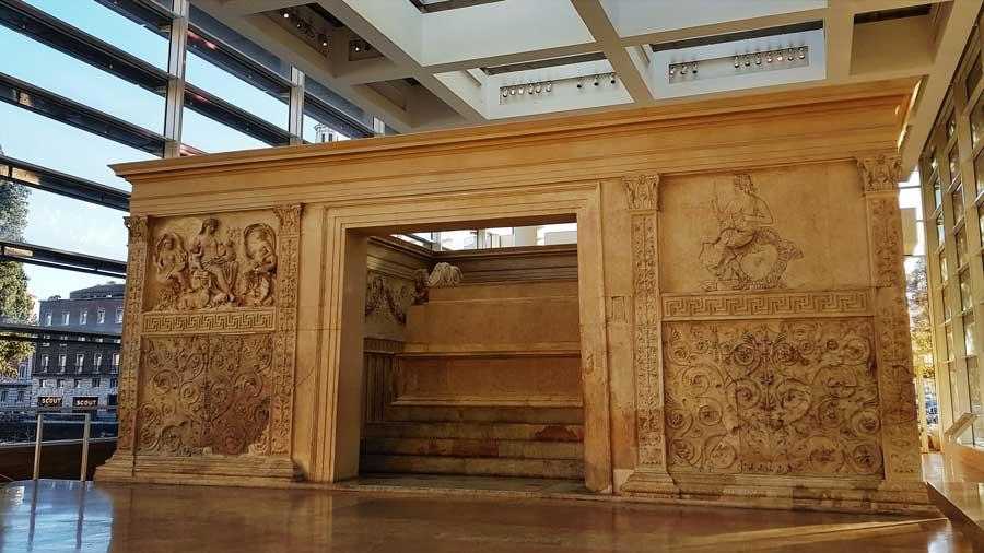 Roma gezilecek yerler Ara Pacis müzesi fotoğrafları ve Ara Pacis (Augustus Barış Sunağı) - Rome Ara Pacis altar and museum photos